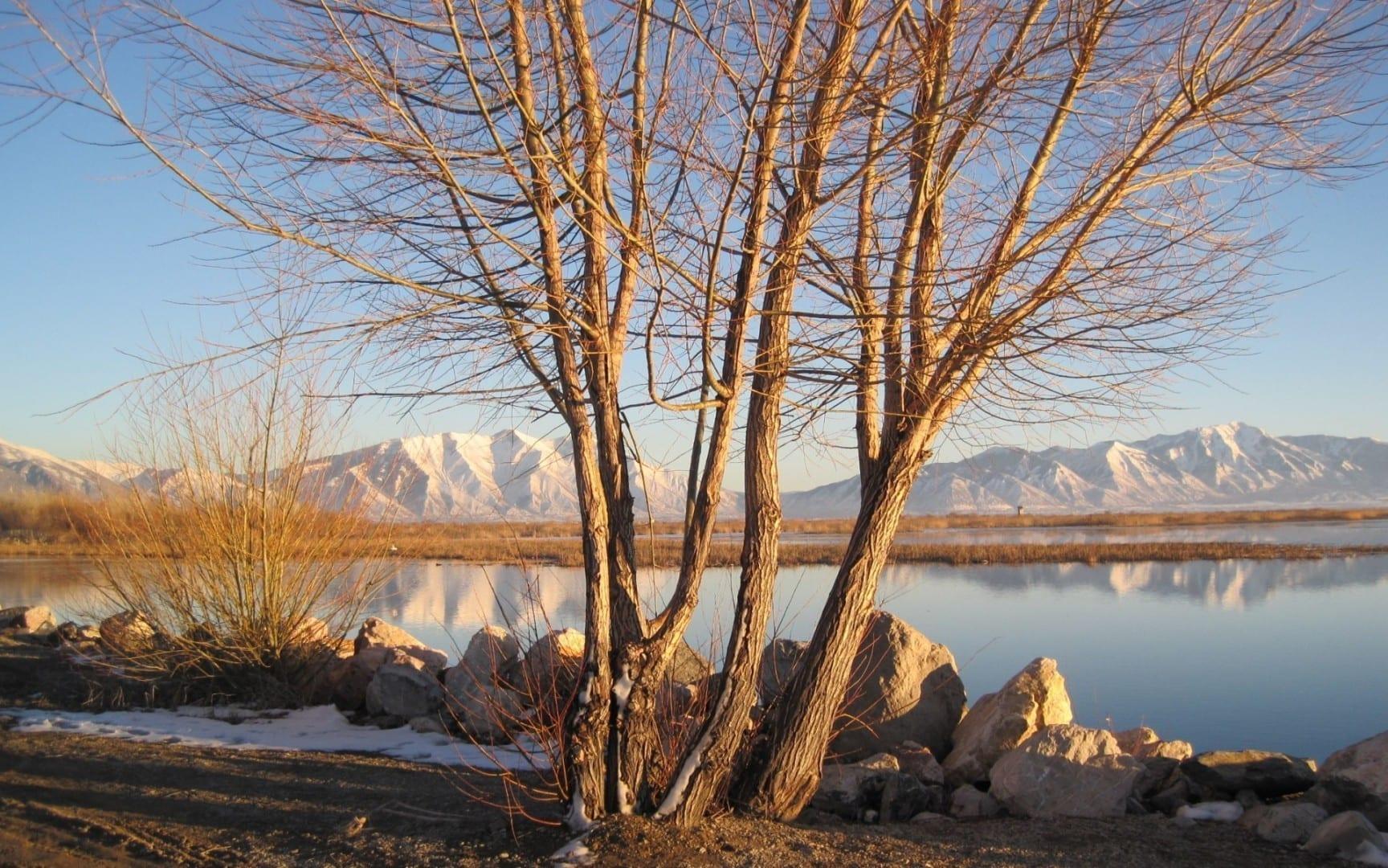 El lago Utah orientado al sur. Provo UT Estados Unidos