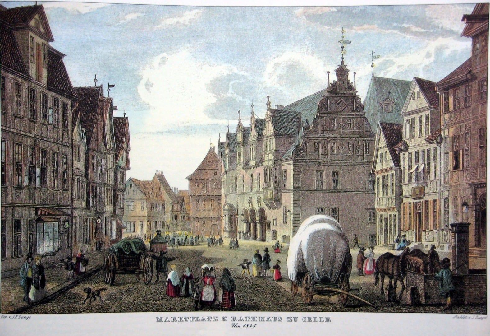 El mercado de Celle alrededor de 1845 Celle Alemania