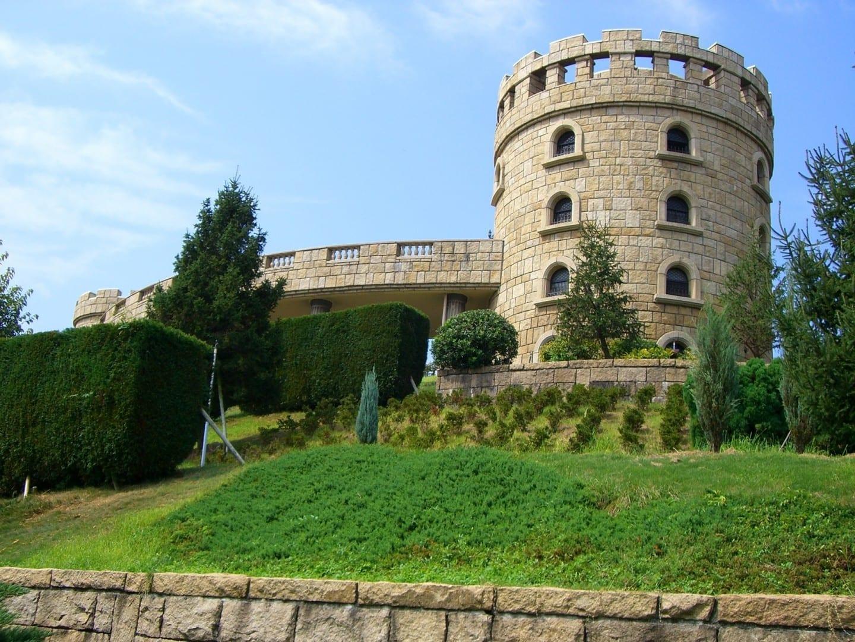 El otro castillo en los terrenos del Parque Central Matsuyama Matsuyama Japón