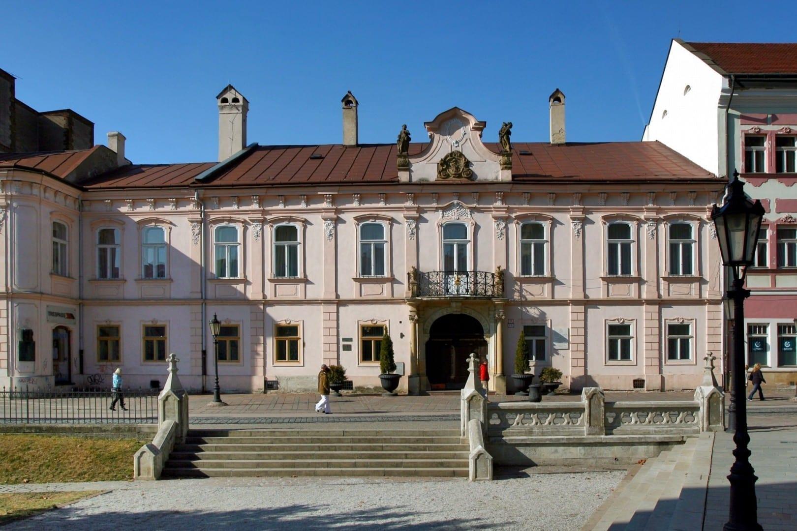 El Palacio Barroco del Obispo Košice República Eslovaca