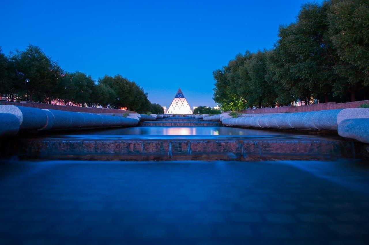 El Palacio De La Paz Y La Concordia Astana Kazajstán Kazajistán