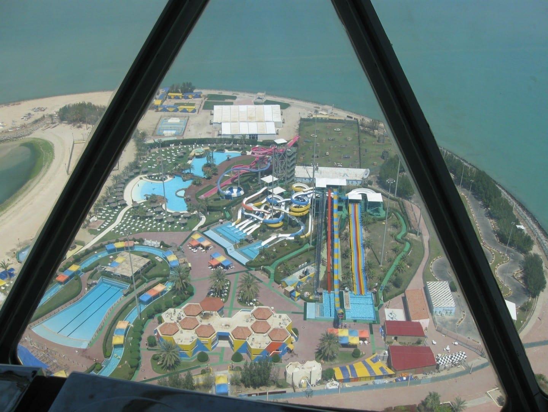 El Parque Acuático de Kuwait, visto desde las Torres de Kuwait Ciudad de Kuwait Kuwait