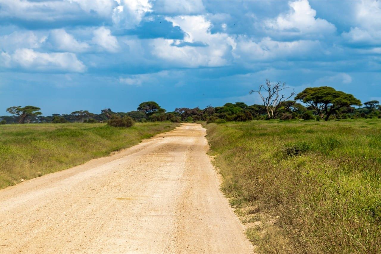 El Parque Nacional De Amboseli Paisaje Safari Kenia