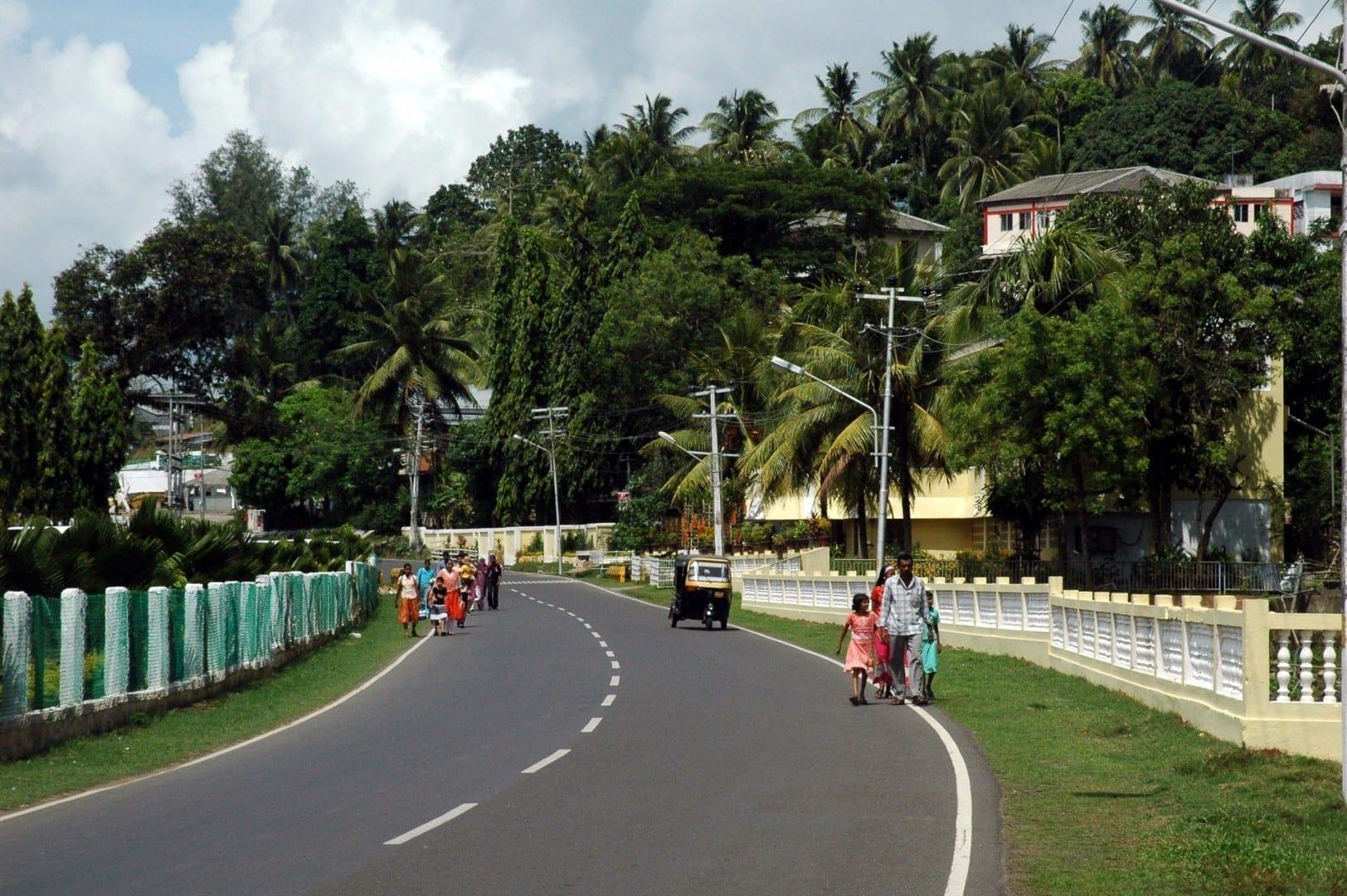 El paseo marítimo de Port Blair, uno de los pocos lugares agradables de la ciudad Port Blair India