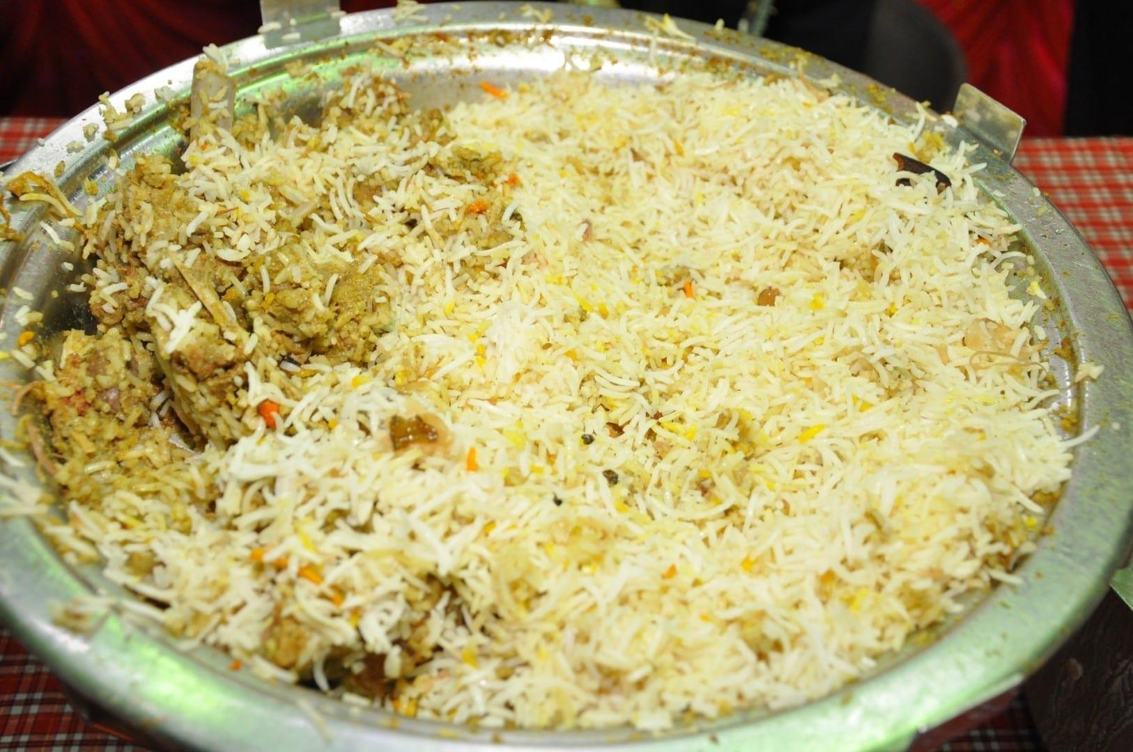 El pollo biriyani es muy picante en Kozhikode Kozhikode India