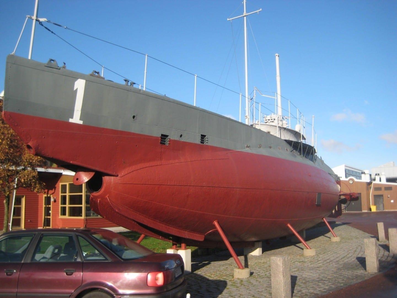 El primer submarino de Suecia Karlskrona Suecia