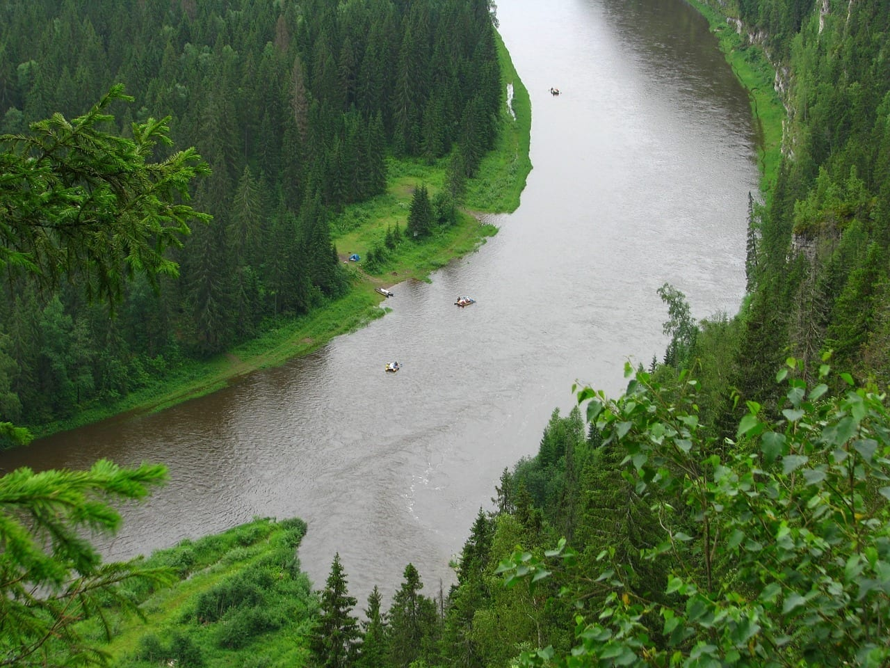 El Río усьва Krai De Perm Verano Rusia
