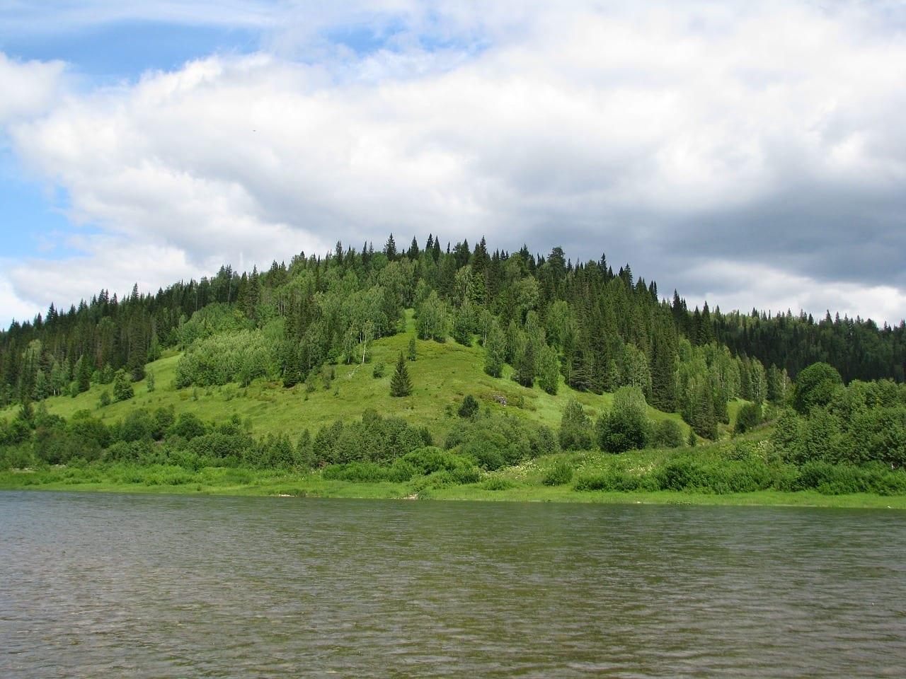 El Río чусовая Krai De Perm Cielo Rusia