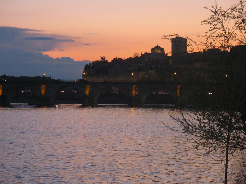 El río Duero Zamora España