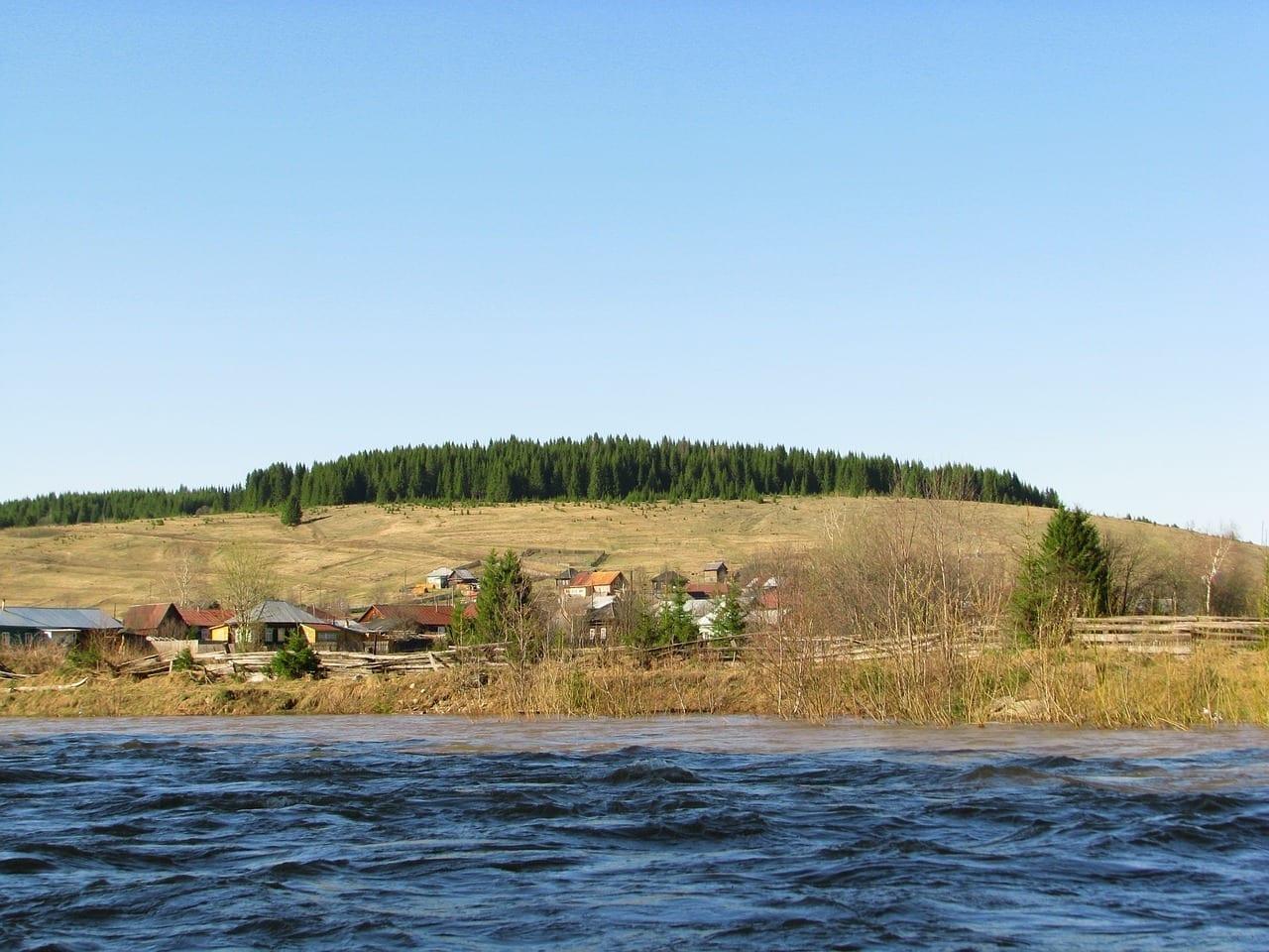 El Río Jr Koiwa Krai De Perm Primavera Rusia