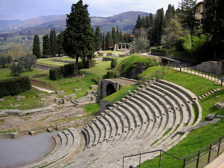 El teatro romano de Fiesole Fiesole Italia