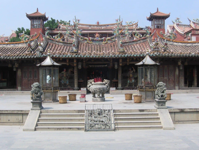 El Templo Guan-Yue en Tumen Jie Quanzhou China