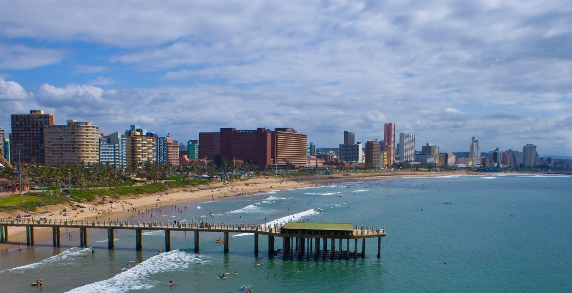En la playa de Durban. Durban República de Sudáfrica