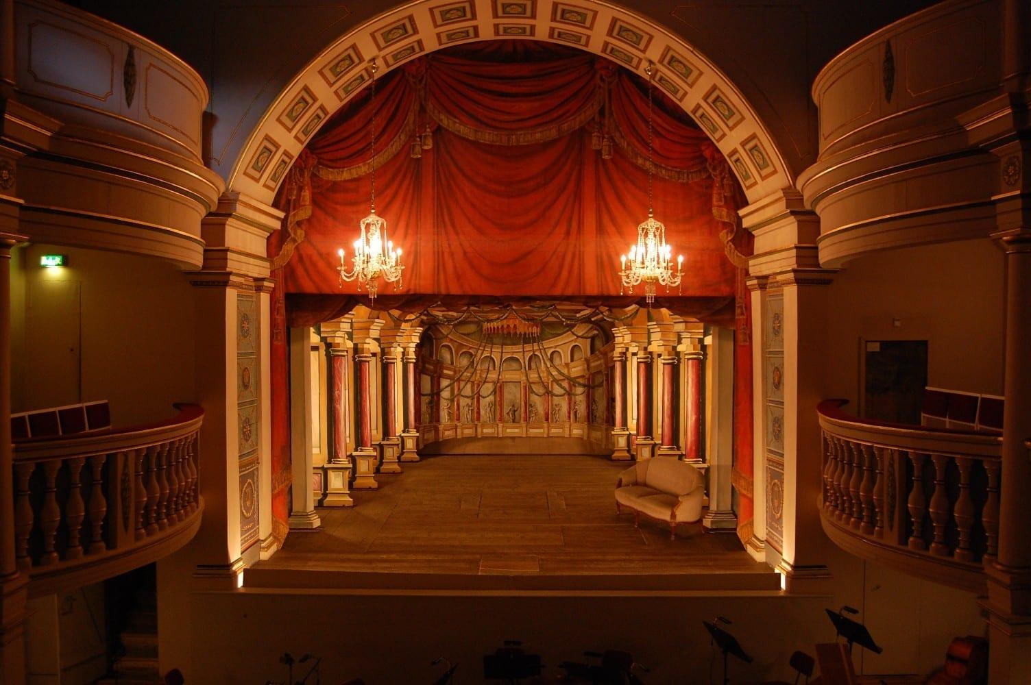 Escenario del teatro Ekhof Gotha Alemania