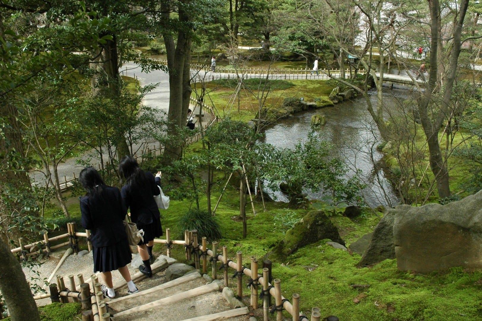 Explorando el Kenrokuen Kanazawa Japón