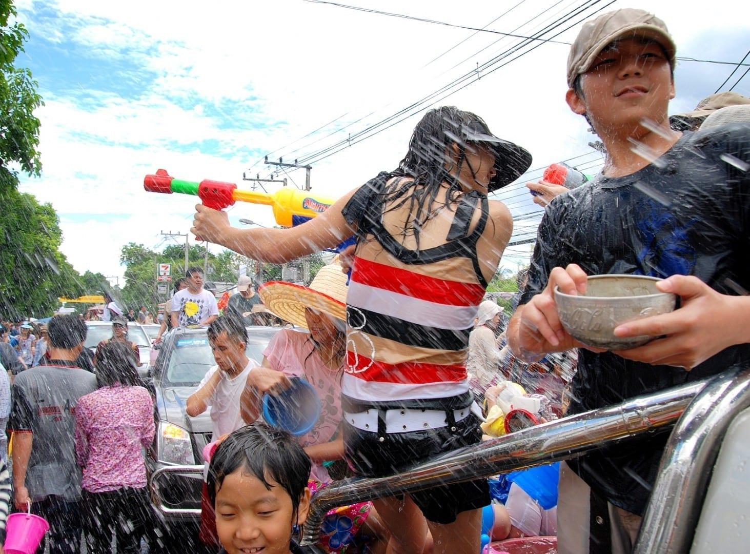 Festival de Songkran Hat Yai Tailandia