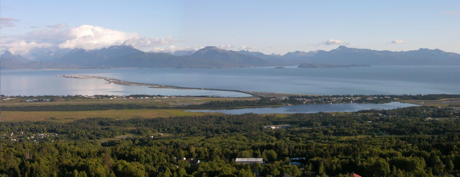 Foto de Homero, Alaska, mostrando el escupitajo de Homero Homer AK Estados Unidos