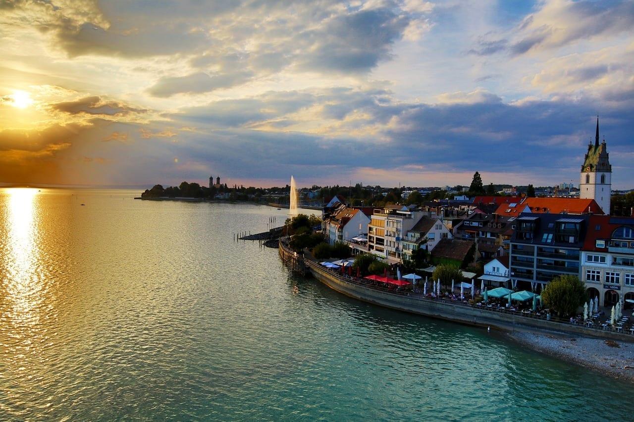 Friedrichshafen De La Ciudad El Agua Alemania