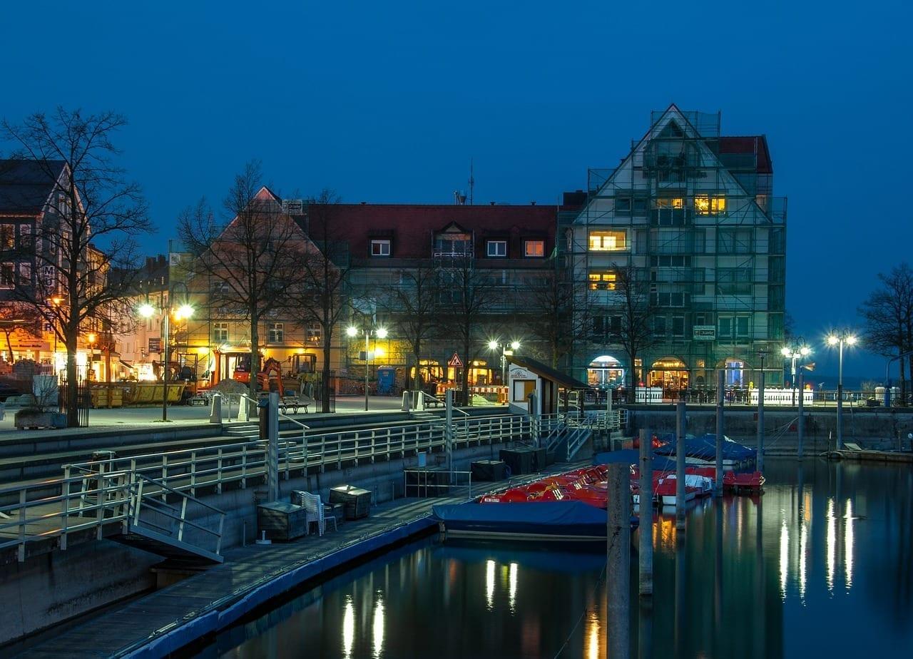 Friedrichshafen Lago De Constanza Hora Azul Alemania