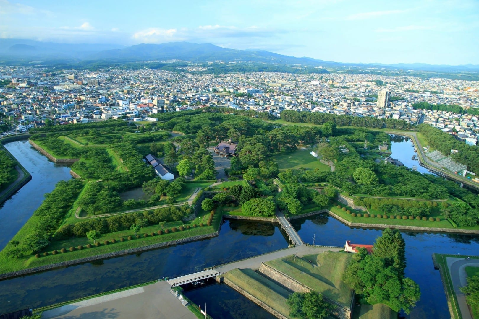 Fuerte Goryōkaku desde la torre de observación Hakodate Japón