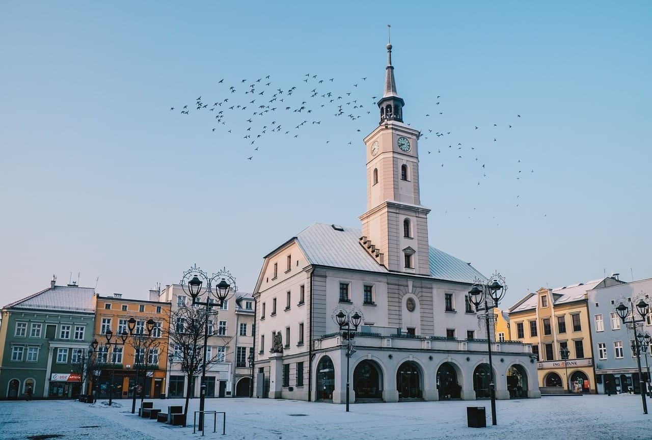 Gliwice El Mercado El Ayuntamiento Polonia