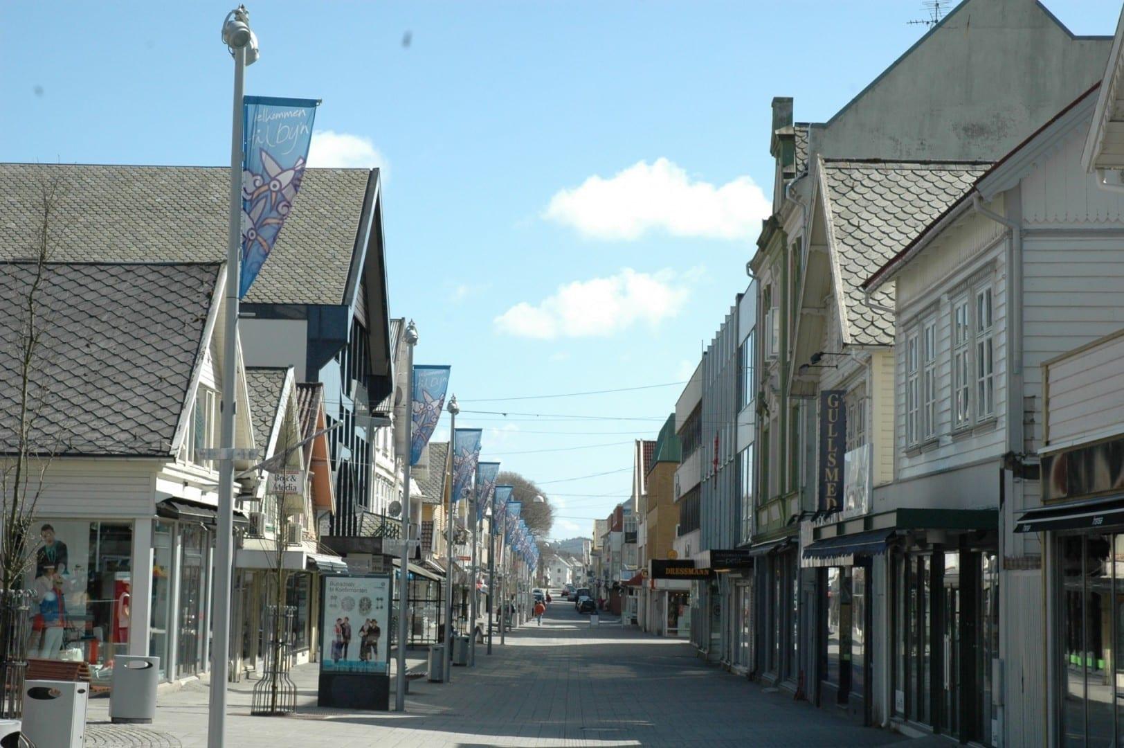Haraldsgata, la calle principal Haugesund Noruega