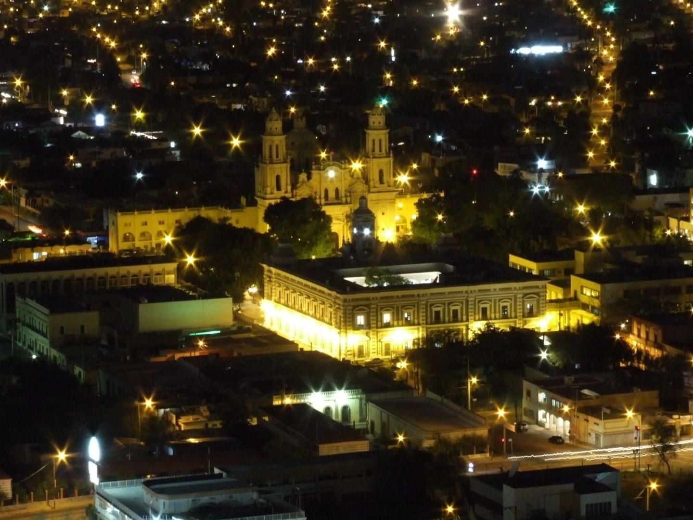 Hermosillo visto desde la cima del Cerro de la Campana en El Centro. Hermosillo México