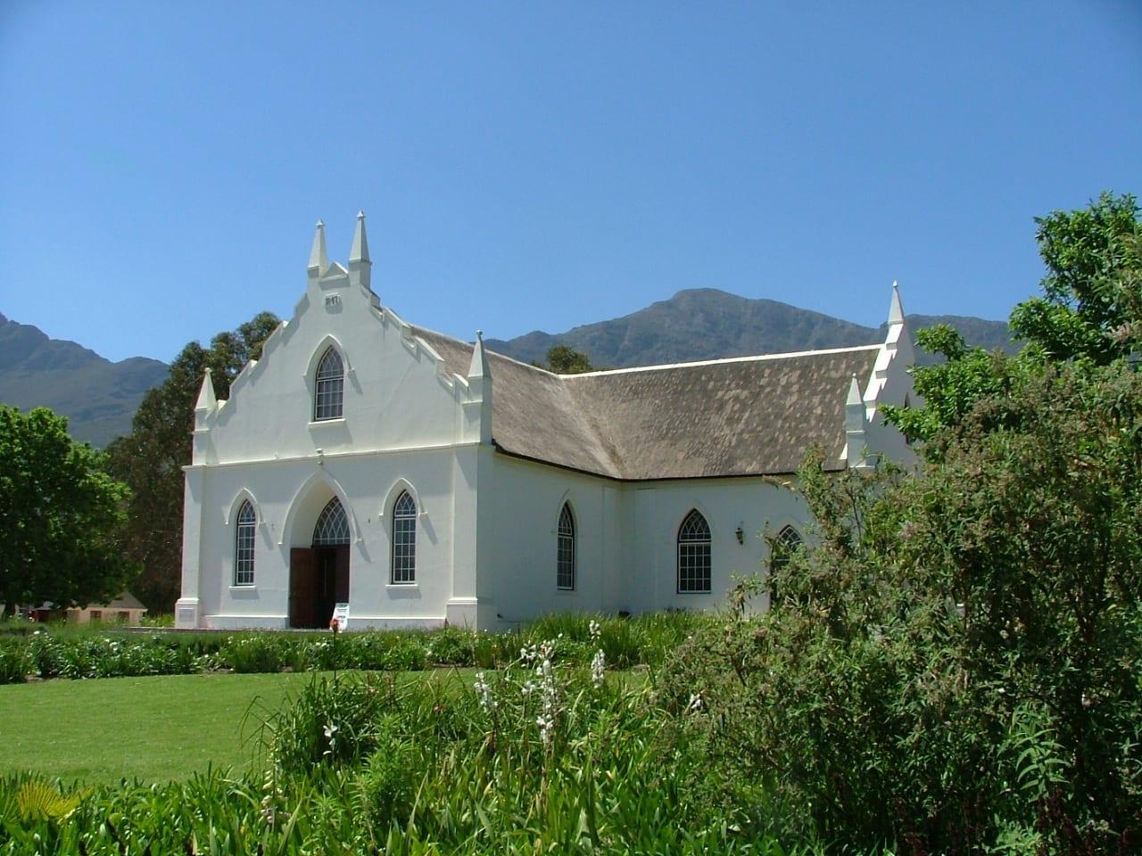 Iglesia en Franschhoek. Franschoek República de Sudáfrica