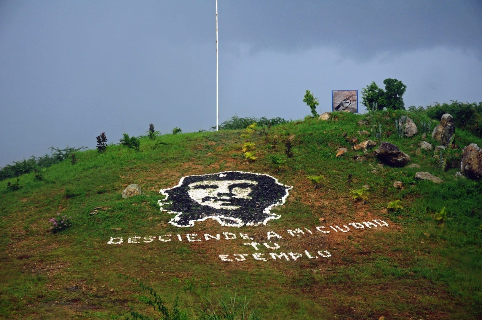 Imagen del Che Guevara en una colina Santa Clara Cuba