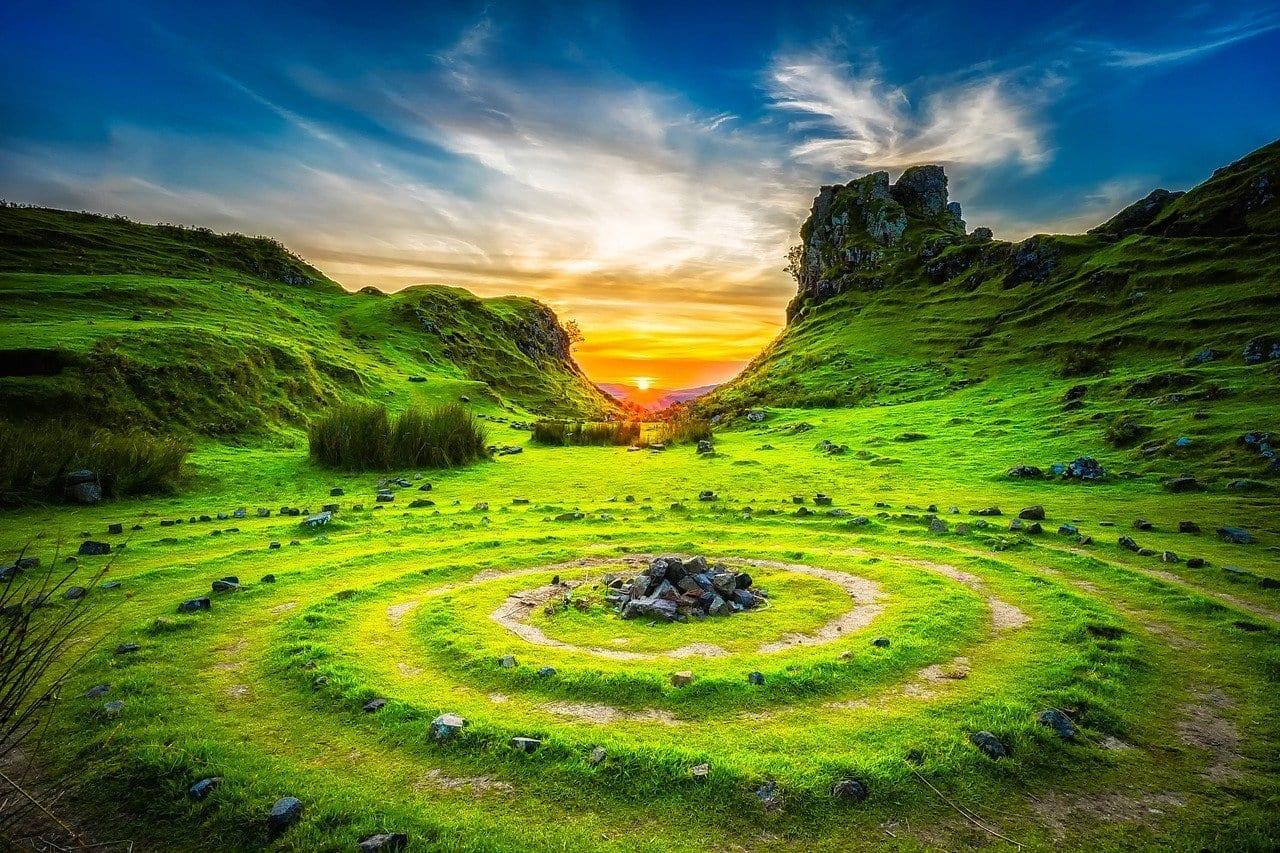 Isla De Skye Escocia Puesta De Sol Reino Unido