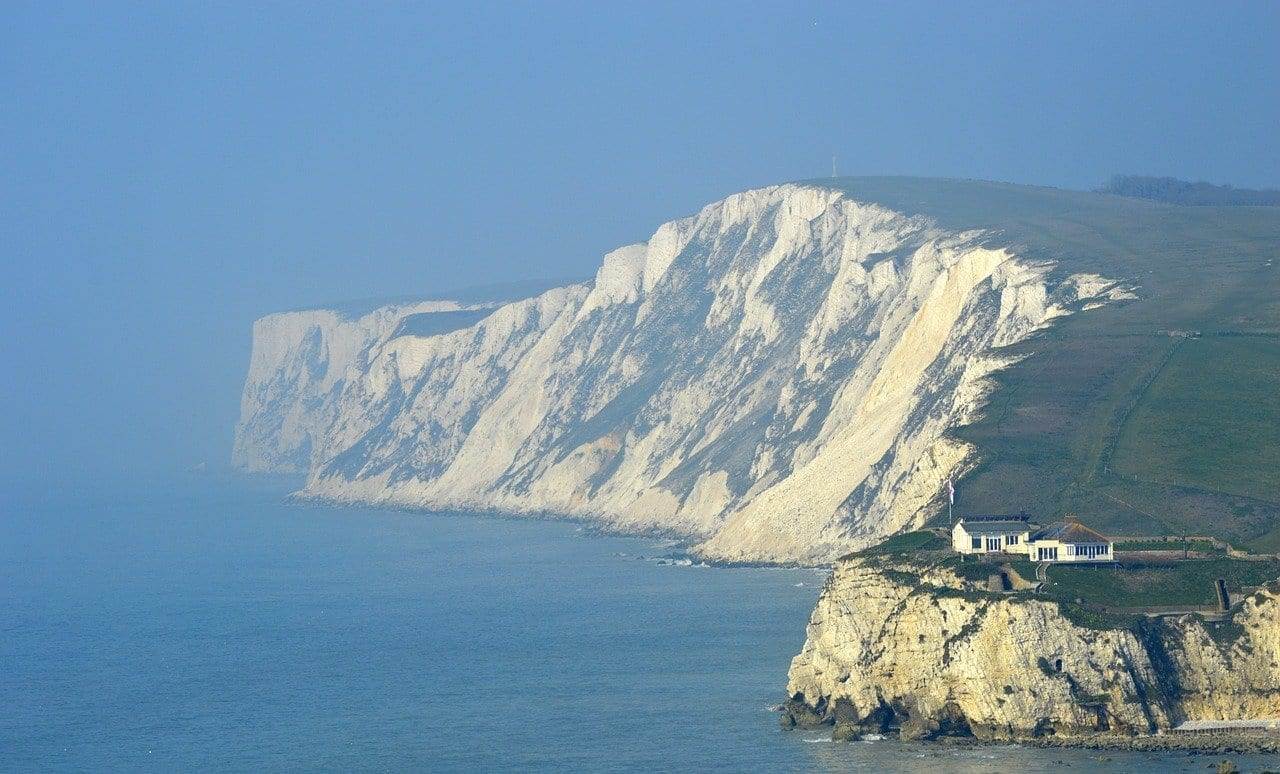 Isla De Wight Cliff Mar Reino Unido