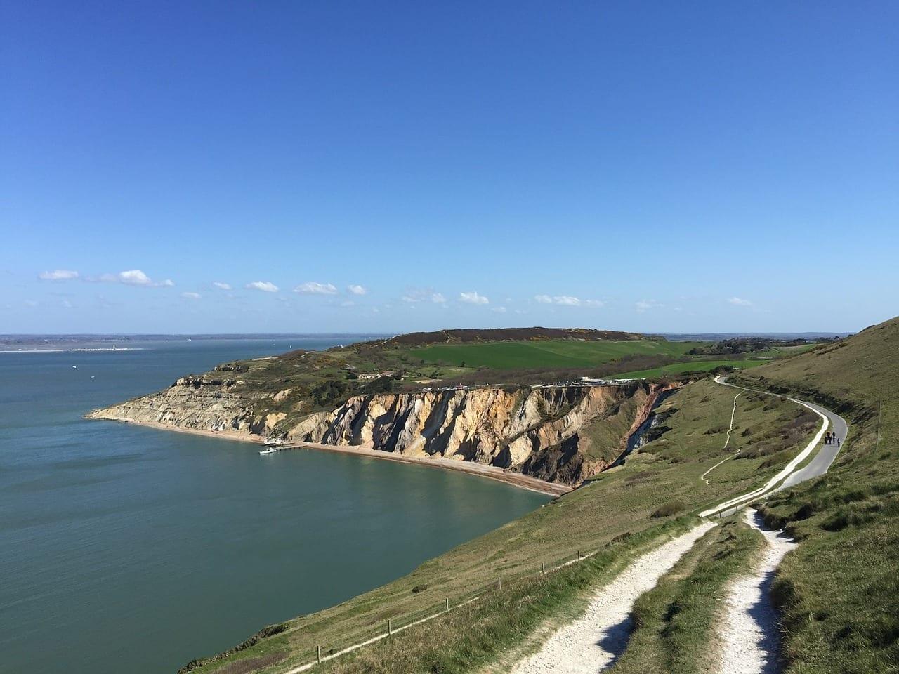 Isla De Wight Costa De Agujas El Agua Reino Unido