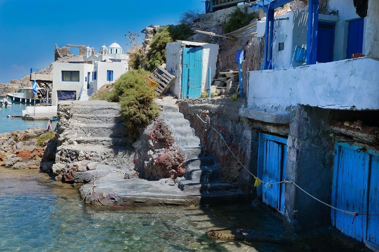 Isla Griega Milos Cielo Azul Grecia