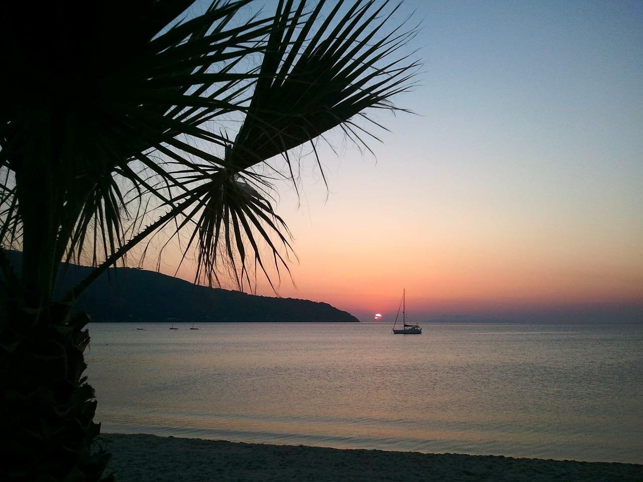 Italia Isla De Elba Puesta De Sol Italia