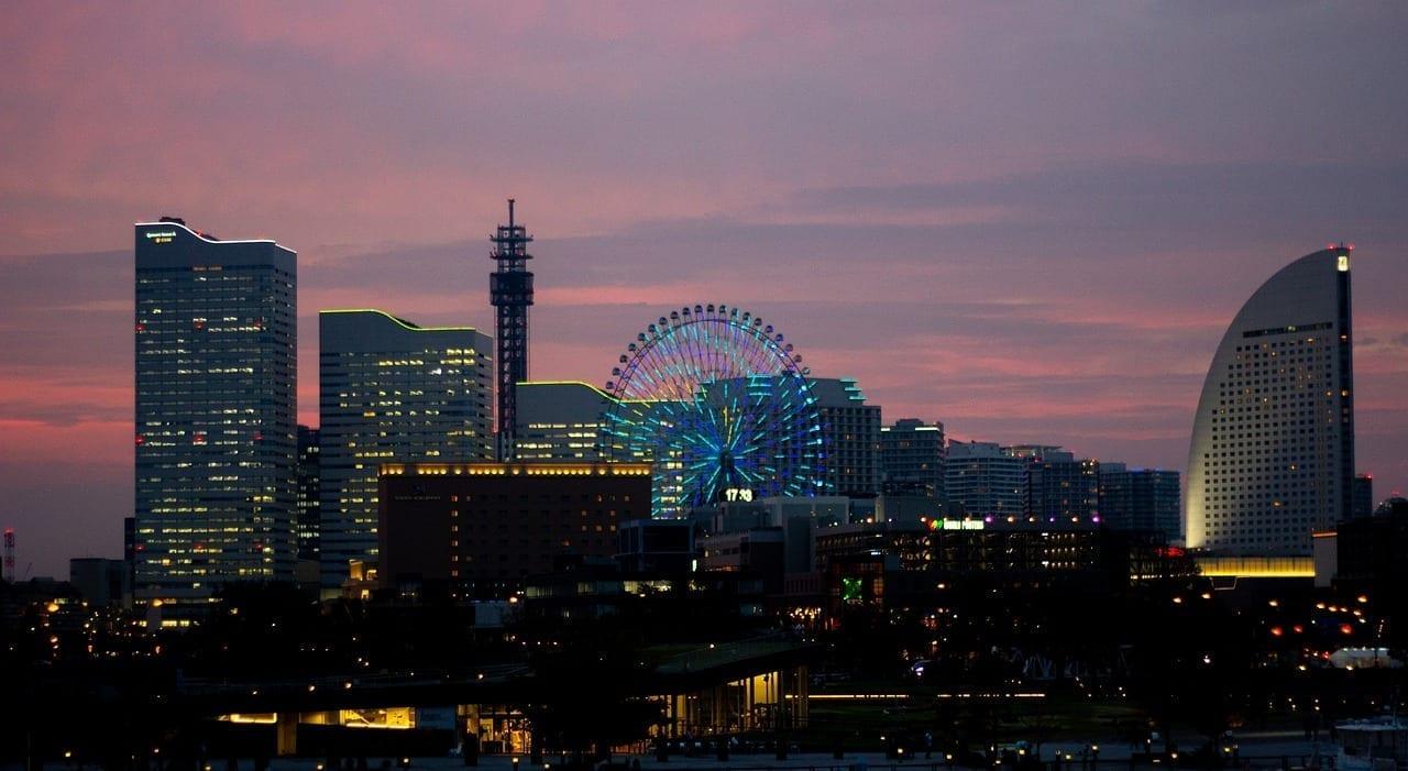 Japón Yokohama Puesta De Sol Japón