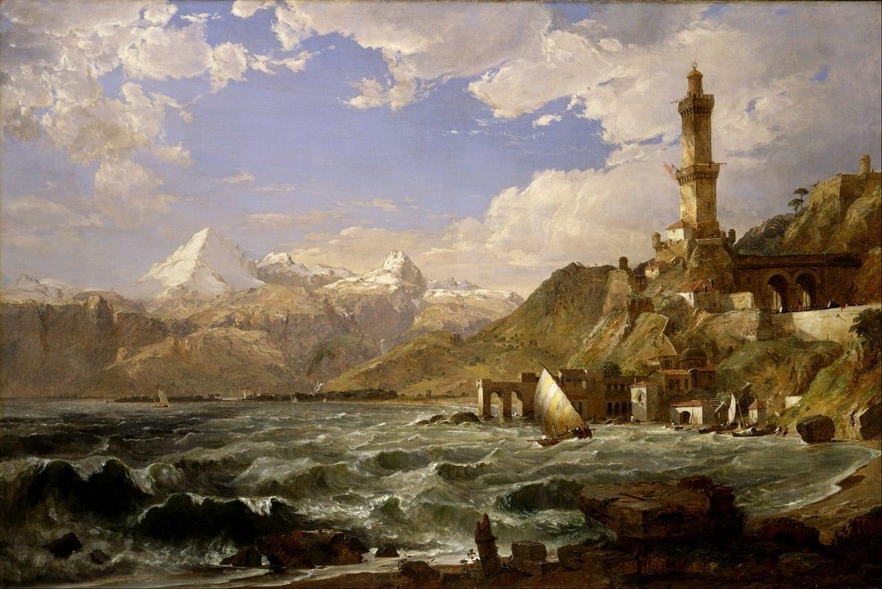 Jasper Cropsey Montañas Mar Canadá