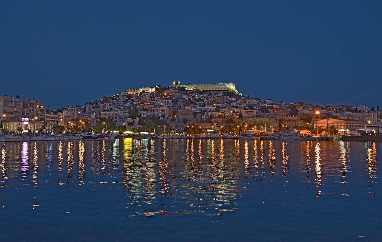 Kavala Ciudad Mar Grecia