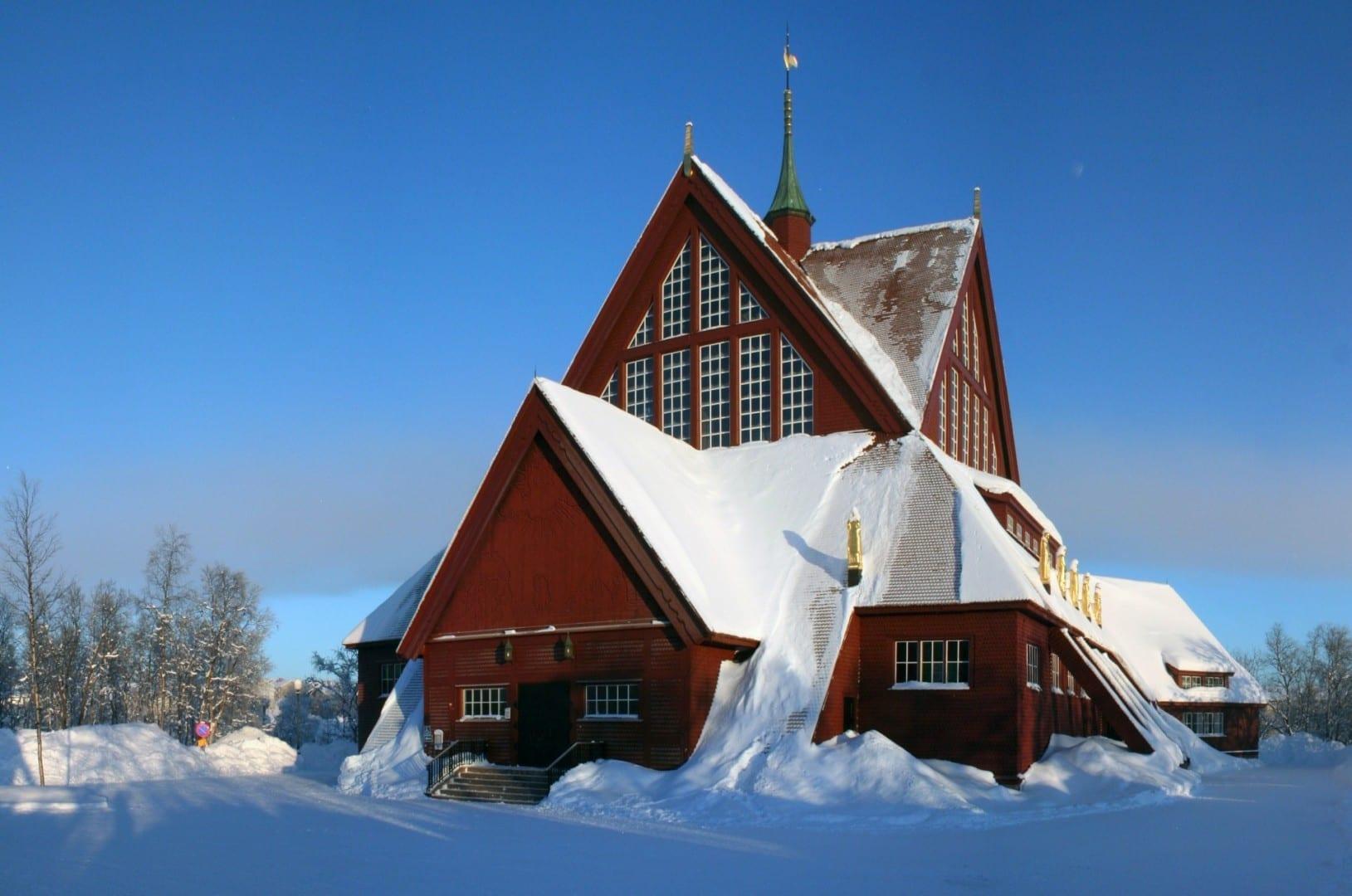 Kiruna kyrka. Kiruna Suecia