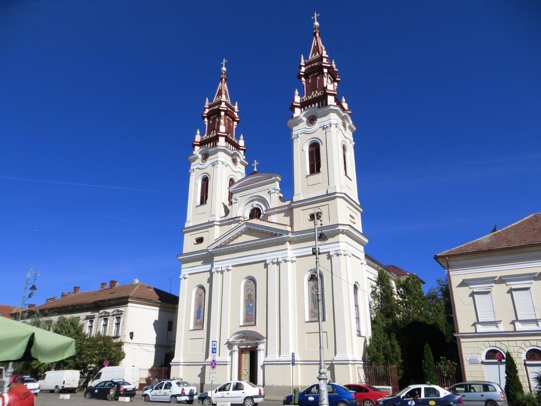 La antigua catedral ortodoxa Arad Rumania