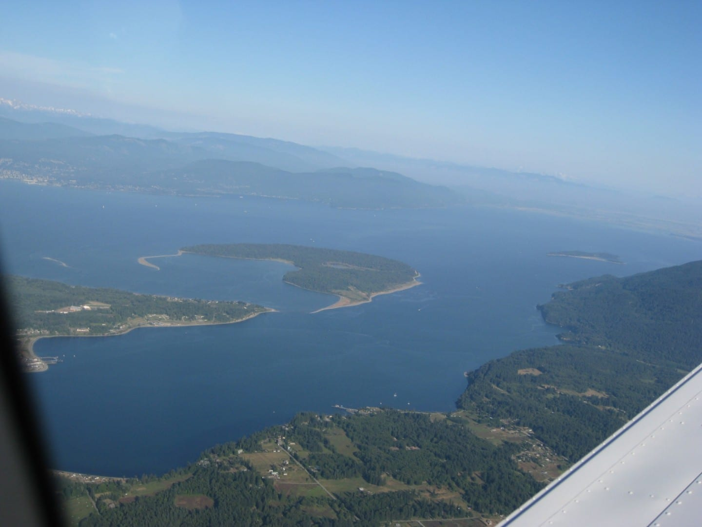 La bahía de Bellingham y la isla Lummi Bellingham Estados Unidos
