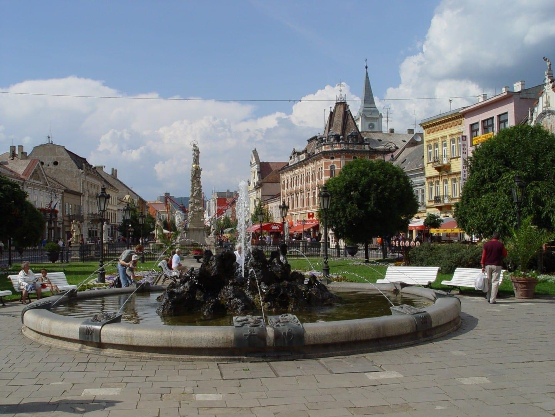 La calle principal Košice República Eslovaca