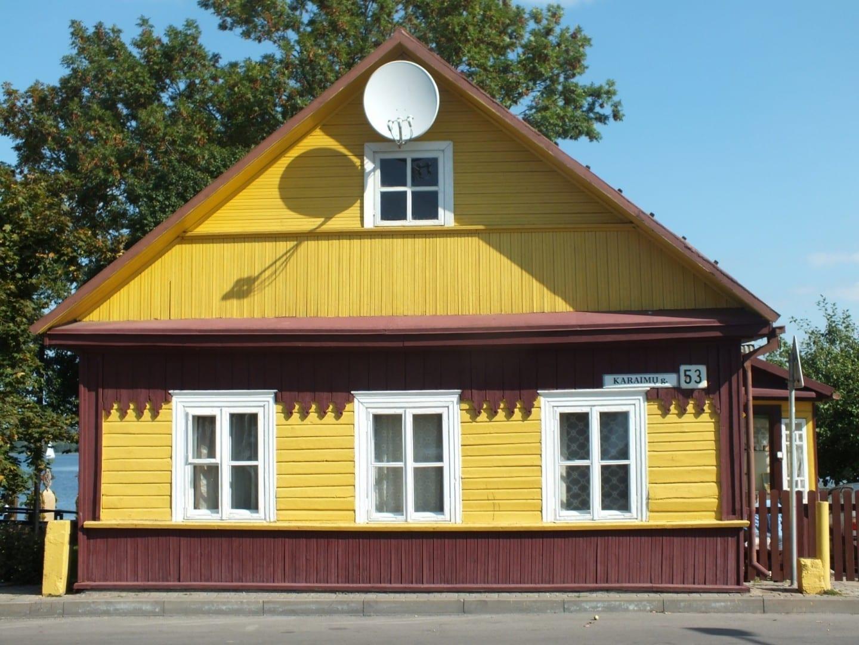 La casa de Karaim en Trakai Trakai Lituania