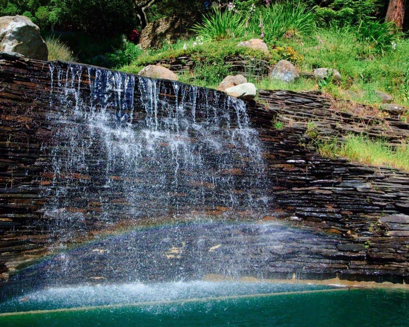 La cascada del Parque Joaquín Miller. Oakland CA Estados Unidos