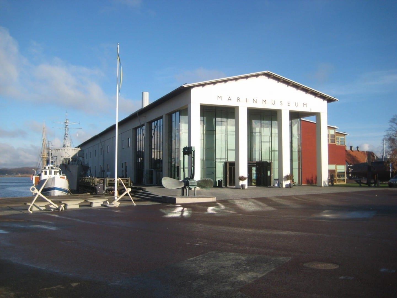 La fachada del museo marítimo Karlskrona Suecia