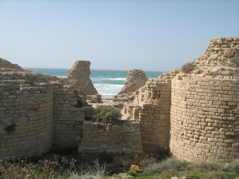 La fortaleza medieval de Ashdod Yam Ashdod Israel