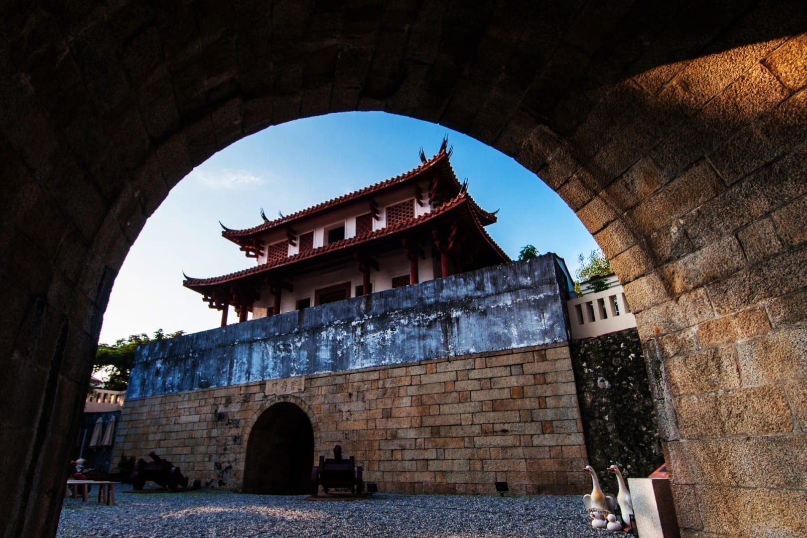 La Gran Puerta Sur, un remanente de las viejas murallas de la ciudad Tainan Taiwán