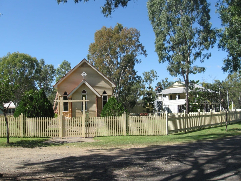 La iglesia y la escuela en Rockhampton Heritage Village Rockhampton Australia