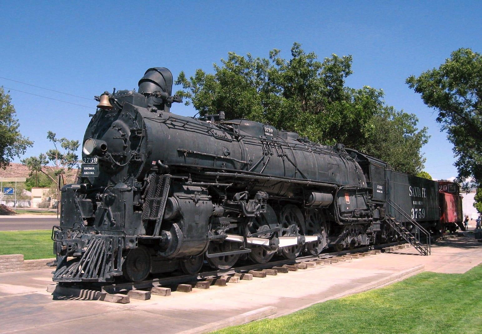La locomotora Santa Fe #3759 en el Parque de Locomotoras Kingman AZ Estados Unidos