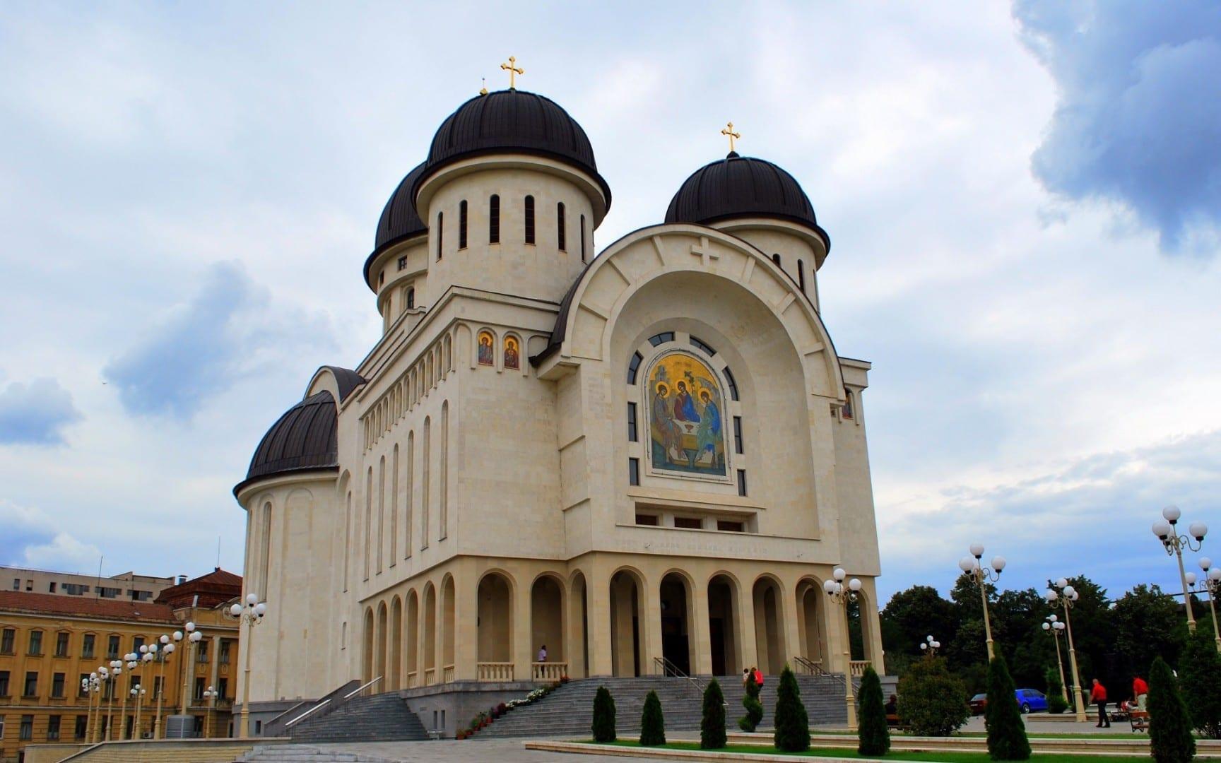 La nueva catedral ortodoxa Arad Rumania