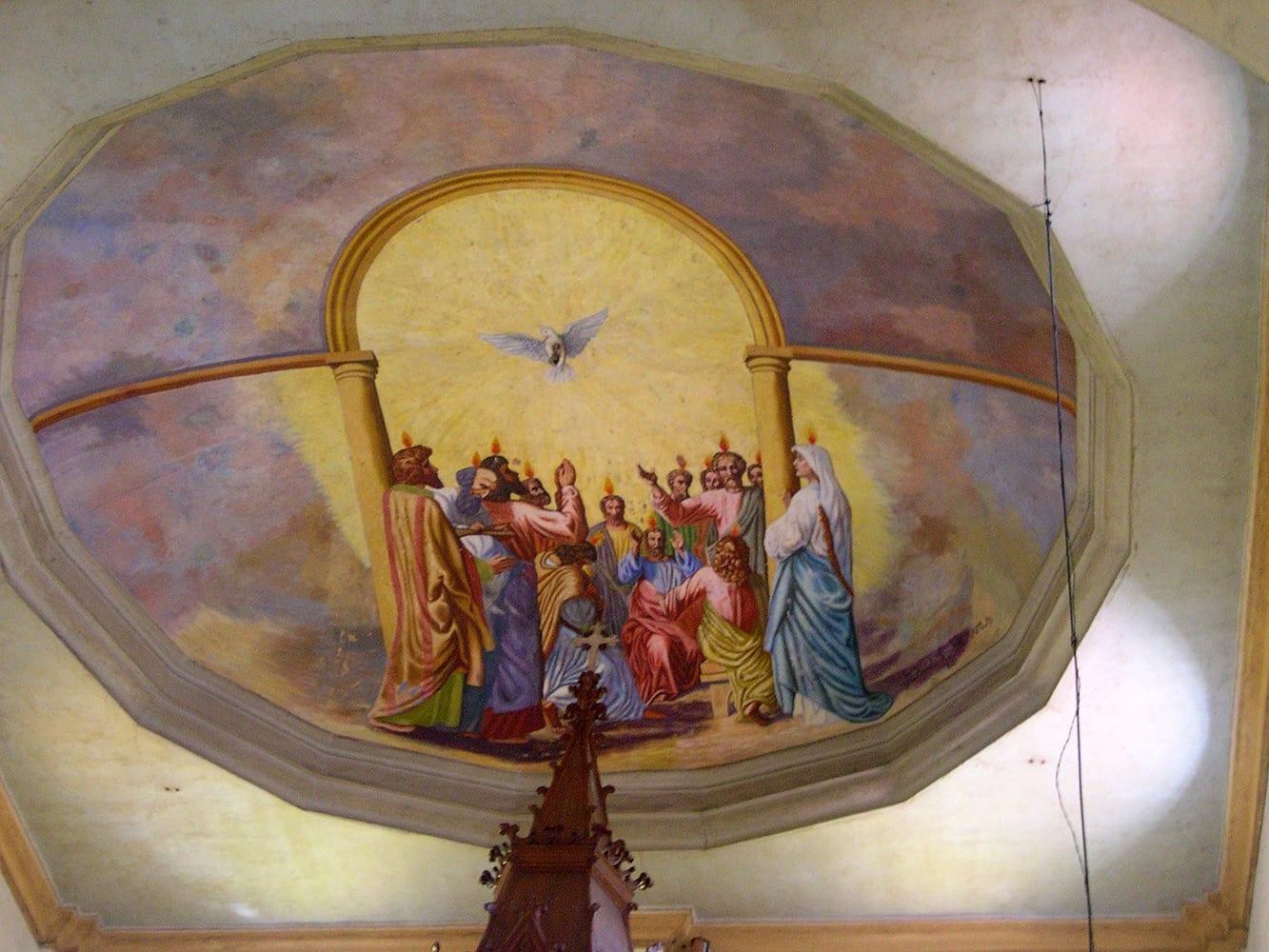 La pintura del techo de la Iglesia de Sta. Ana Iloílo Filipinas
